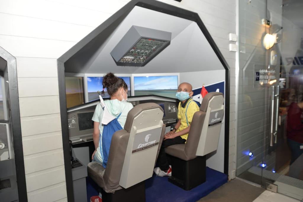 نظمت شركة مصر للطيران (الناقل الرسمى للعلم والمعرفة لمستشفى 57357)، رحلة لمجموعة من أطفال المستشفى بمدينة كيدزينيا الترفيهية بالقاهرة